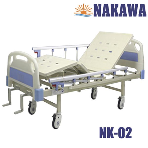 Giường Y Tế 2 Tay Quay NAKAWA -[Giá 7.900.000]- Giường Bệnh Nhân đa chức năng, Giường cho người bệnh, hỗ trợ chăm sóc người già yếu