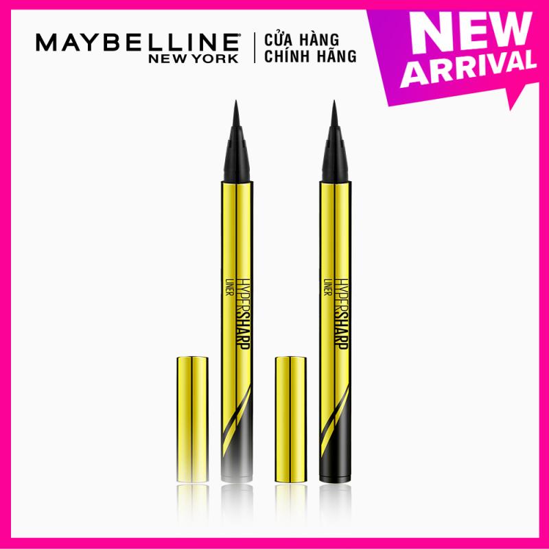 [Bộ trang điểm] Bộ đôi bút kẻ mắt nước siêu sắc mảnh không lem, trôi Hyper Sharp Maybelline New York