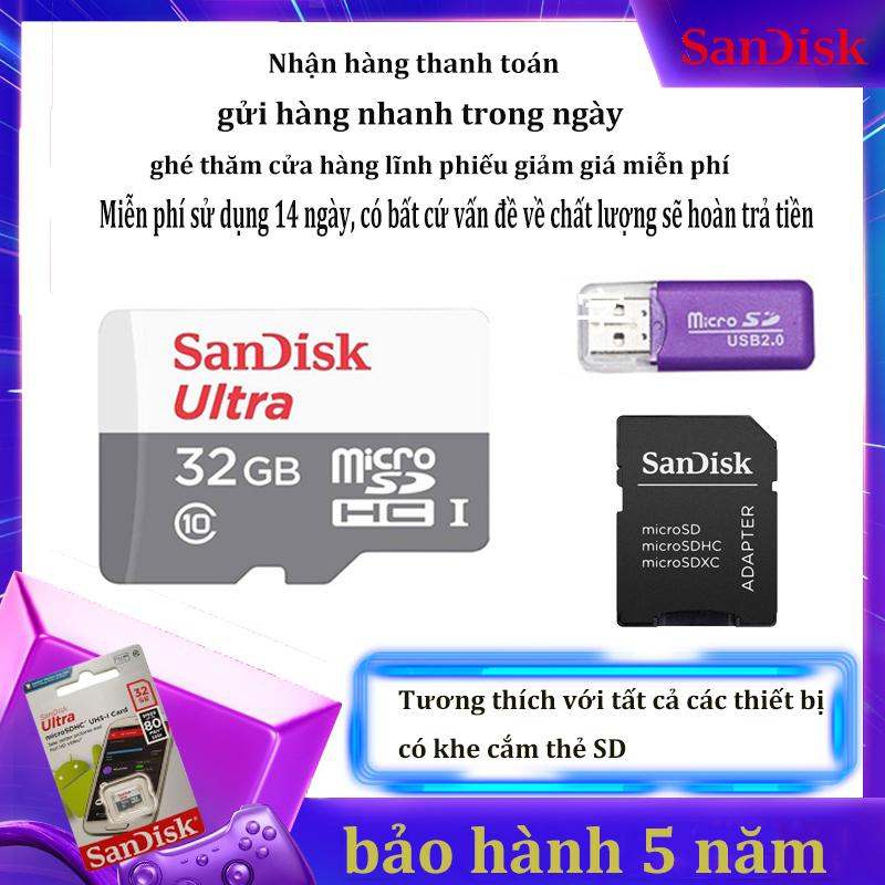 [Giảm giá / triết khấu 12% ] Thẻ Nhớ Micro SD Class10 Micro SDHC TF Thẻ Nhớ Cực Micro SDXC Thẻ Nhớ Siêu sandisk 64GB  Micro SDHC UHS-1 C10 80 MB/giây qùa tặng  kèm Adapter