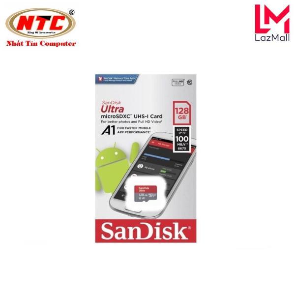 Thẻ nhớ MicroSDXC SanDisk Ultra A1 128GB Class 10 U1 100MB/s box Anh - Model 2019 (Đỏ)