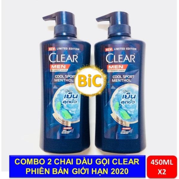 Combo 2 chai Dầu Gội Clear Men Nhập Khẩu Thailand -450ml/chai giá rẻ