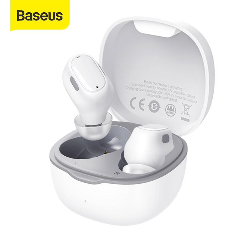 Baseus tai nghe chơi game WM01 âm thanh nổi TWS  tai nghe bluetooth không dây 5.0 điều khiển cảm ứng thông minh khử tiếng ồn cỡ nhỏ - INTL