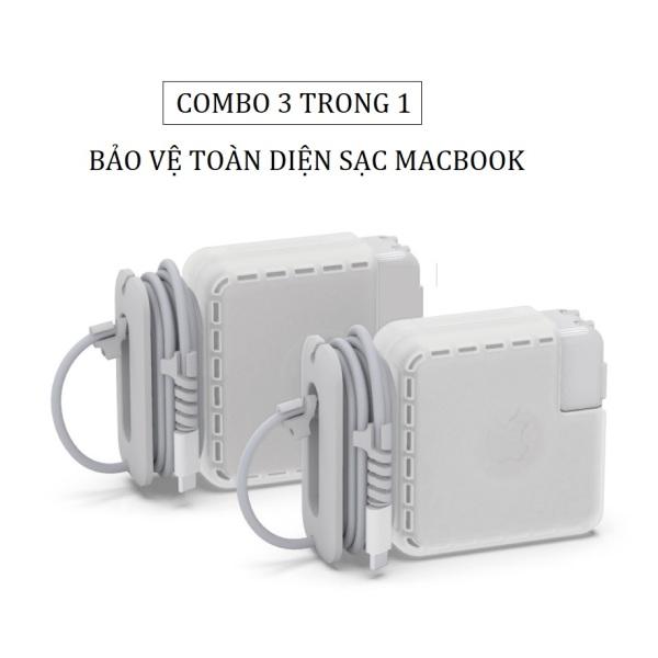 Bảng giá [Nhập ELMAR31 giảm 10% tối đa 200k đơn từ 99k]Ốp bọc bảo vệ sạc Macbook đa năng 3 trong 1 Phong Vũ