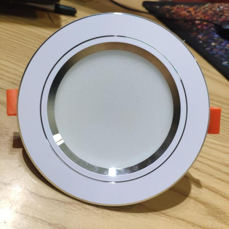 Combo 20 Đèn led âm trần 7w,phi 90,3 chế độ màu,đế tản nhiệt nhôm hình lá