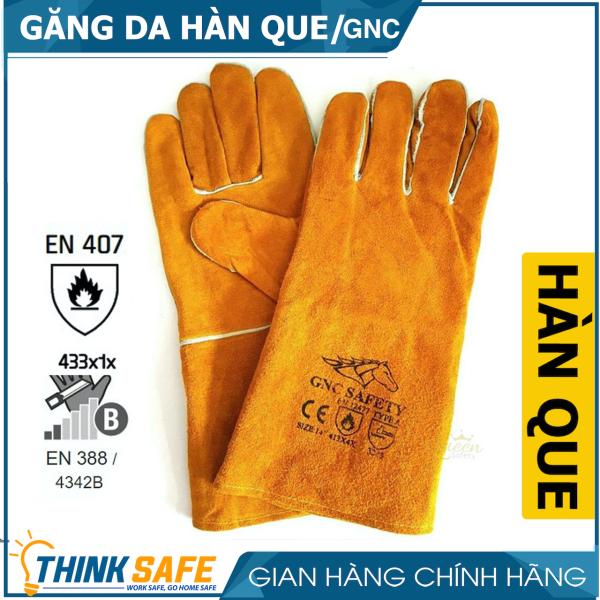 Găng tay bảo hộ da hàn GNC thấm hút mồ hôi, chống cháy, chịu nhiệt, độ bền cao, bao tay hàn cắt chuyên dùng - Bảo hộ Thinksafe