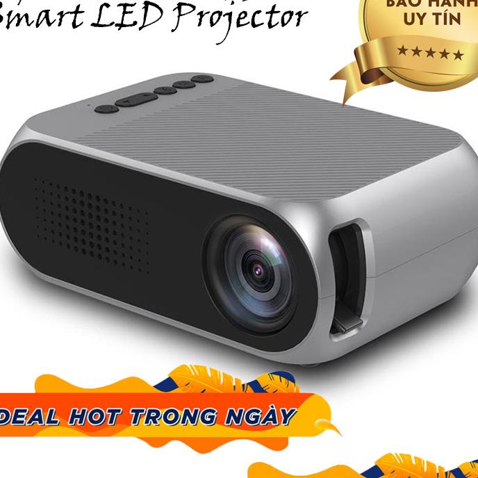 Offer Khuyến Mại May Chieu Mini,đa Phương Tiện, Hỗ Trợ Cho Gia đình, MÁY CHIẾU MINI YG-320 Smart LED Projector Full HD 1080p Support Max 60 Inch,độ PHÂN GIẢI CAO,tích Hợp WIFI, Giá Tốt, Máy Chiếu Mini Projector, BH Lên Tới 18 Tháng. Bởi VIOLET-SHOP
