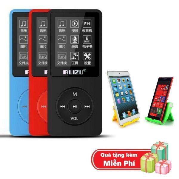 ( Quà tặng Giá đỡ máy nghe nhạc hình ghế ) Máy nghe nhạc mp3 Ruizu X02 bộ nhớ trong 8G hỗ trợ thẻ nhớ lên đến 64G cao cấp