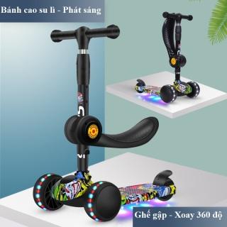 Xe trượt scooter 3 bánh an toàn cho trẻ em chịu lực 180kg phù hợp cho cả bé trai và gái bảo hành dài hạn thumbnail