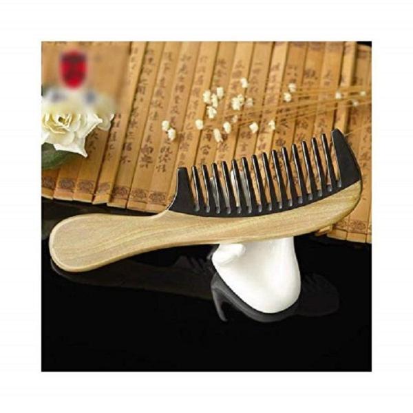 Lược sừng răng thưa xuất Nhật - gỗ hoàng đàn tự nhiên