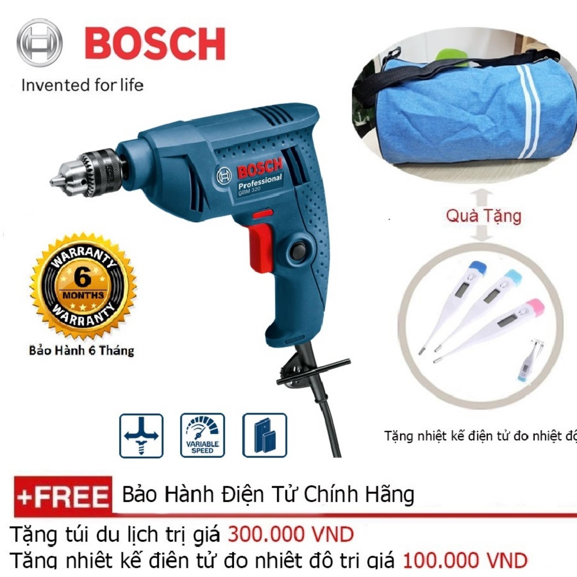 Máy khoan Bosch GBM 320 - Tặng balo du lịch