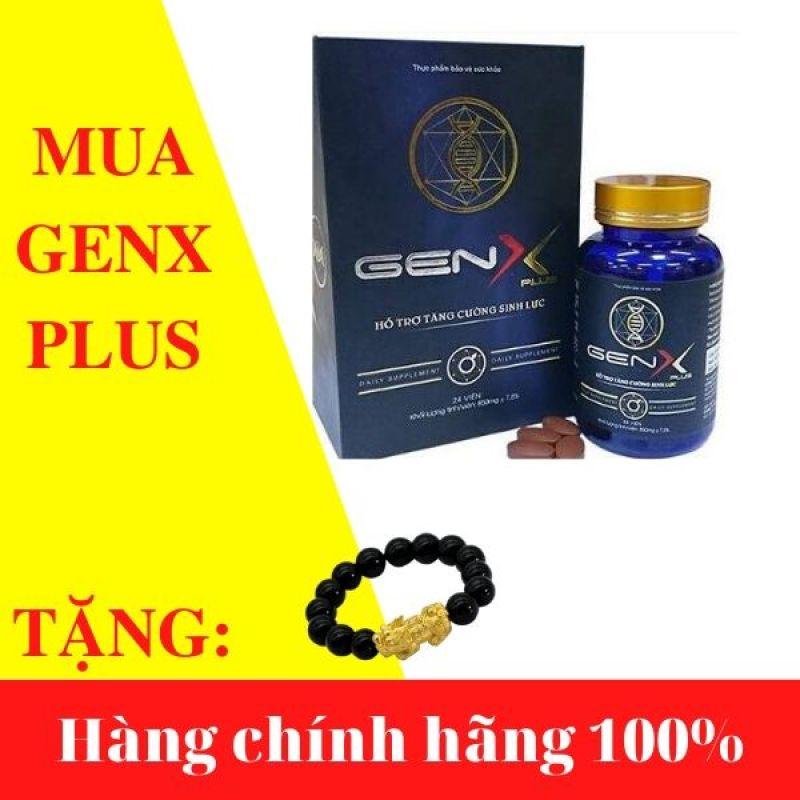 Gen X Plus - Viên uống tăng cường sinh lý nam - Hộp 24 viên - TẶNG kèm vòng tay phong thủy xịn xò