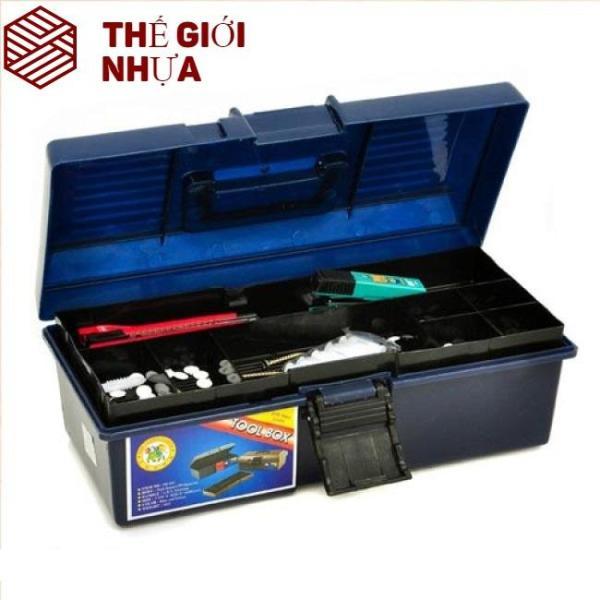 Hộp đựng dụng cụ đựng đồ nghề lớn 435*235*195 mm Hiệp Thành 412 HI