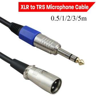 0.5/1/2/3/5m Durable Speaker Lead Balanced Cord Male 1/4  6.35mm XLR to TRS Microphone Cable Stereo Jack