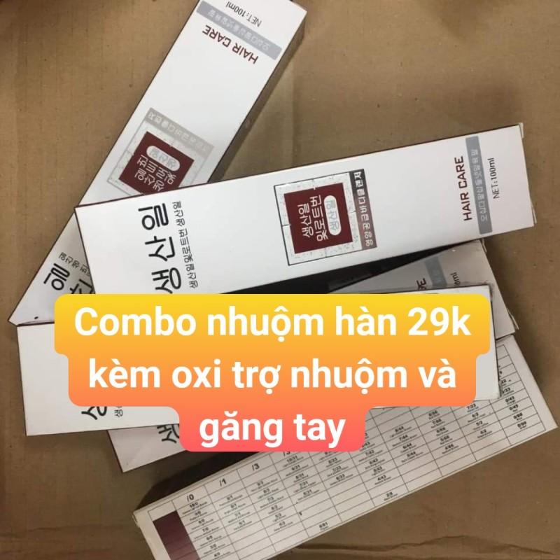 Th.uốc nhuộm tóc Hàn Quốc combo kèm oxi trợ nhuộm giá rẻ