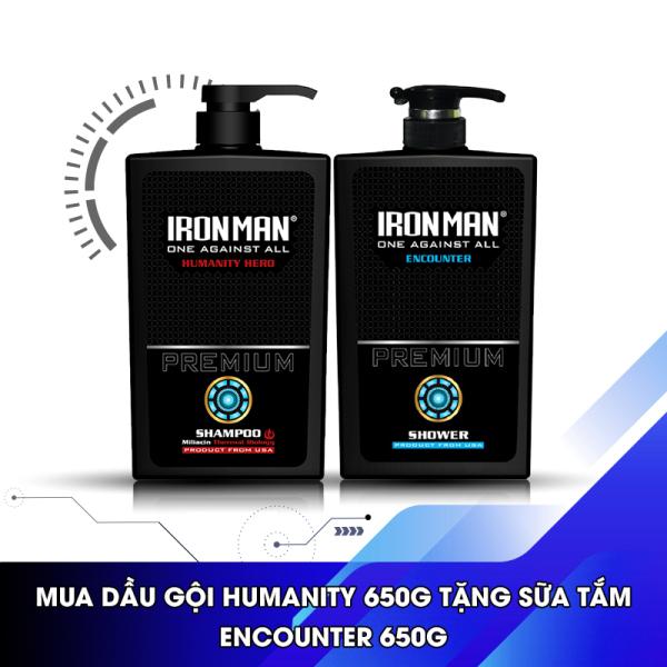 Dầu gội nam hương nước hoa thơm lâu Ironman Humanity Hero 650g Tặng sữa tắm hương nước hoa Formen classic 650g