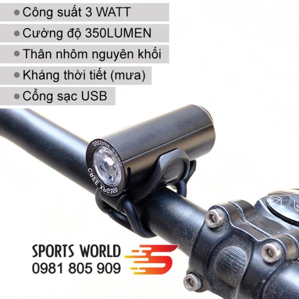 Đèn xe đạp siêu sáng RAYPAL-2289 công suất 3 Watt
