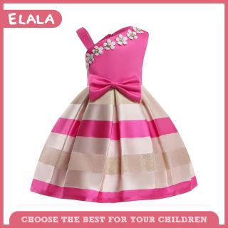 Đầm Dây Đeo Vai Đơn Thời Trang 3-9 Năm Đầm Hoa Ngọc Trai Cổ Dễ Thương Cho Bé Gái, Đầm Phong Cách Preppy Thắt Nơ