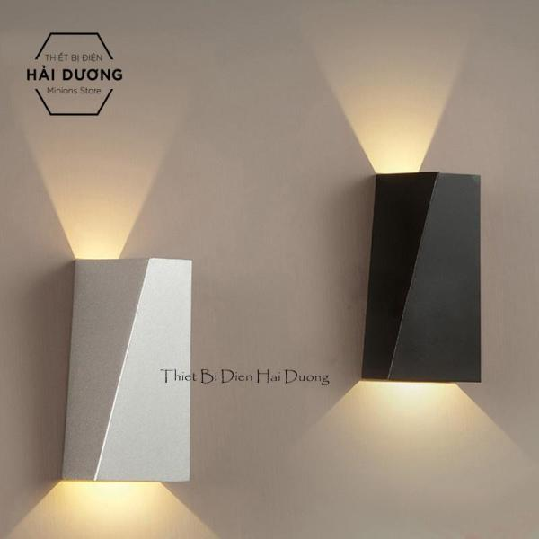 Đèn LED hắt tường 2 đầu hình đa giác chống nước TN822 (Trắng/Đen)