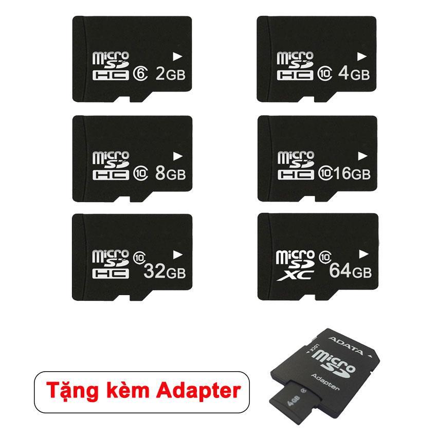 Thẻ Nhớ MicroSDHC Class 10 Tốc độ Cao 2GB/4GB/8GB/16GB/32GB+ Tặng Kèm Adapter ADATA Giá Giảm