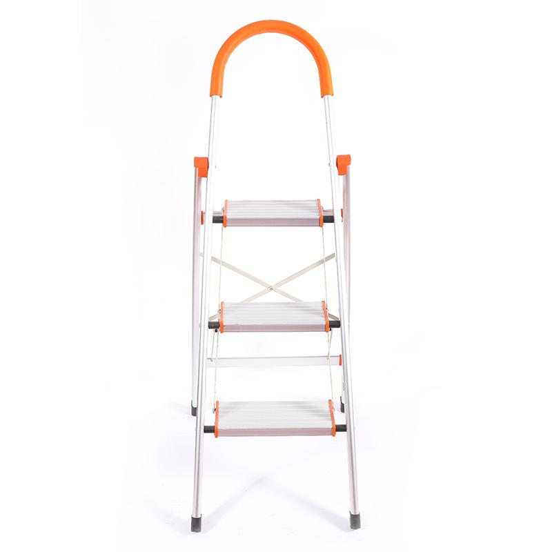 Aluminium Alloy Thick Folding Ladder Two Step Three Step Four-step Ladder Household Folding Ladder Trestle Ladder Aluminum Ladder Household