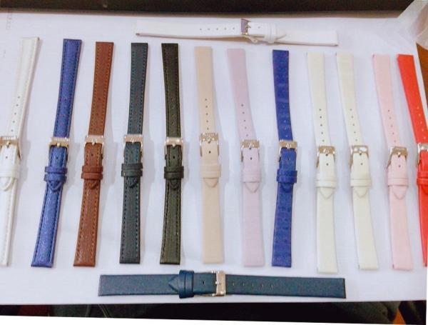 Dây da đồng hồ Julius Hàn Quốc size 12 đa dạng màu sắc tùy chọn