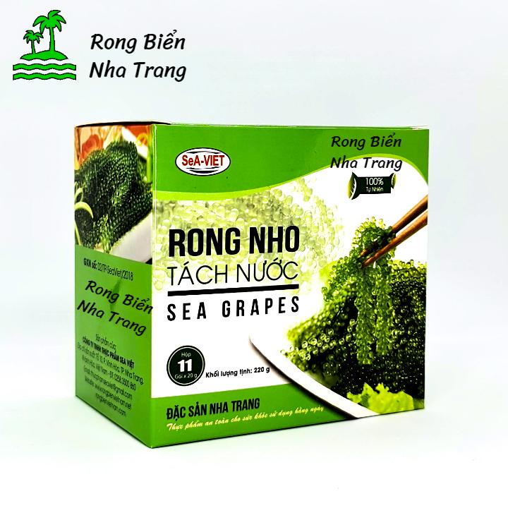 [HCM]Hộp 220g 11 gói Rong nho tách nước Sea Việt Thơm Ngon Giàu Dinh Dưỡng Chế Biến Được Nhiều Món Ăn