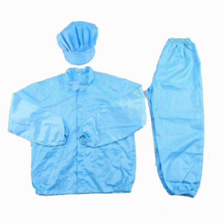 Quần áo phòng sạch chống tĩnh điện bộ rời cả mũ