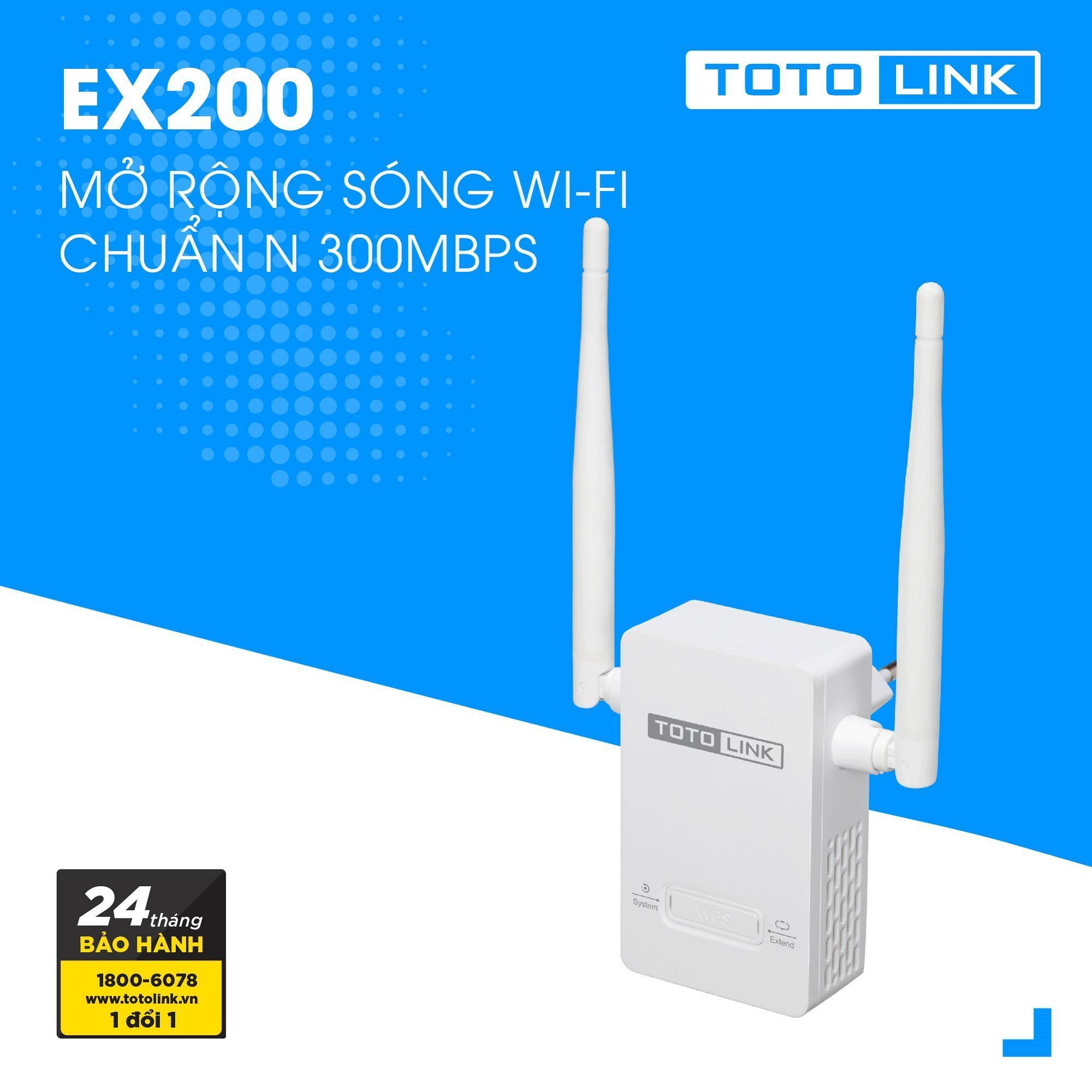 [Có Video] Thiết Bị Mở Rộng Sóng WiFi TOTOLINK EX200 (Trắng) Nhỏ Gọn Hiện đại - Hãng Phân Phối Chính Thức Cùng Khuyến Mại Sốc