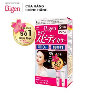 Thuốc nhuộm tóc phủ bạc dạng kem Bigen Speedy Color Cream 80ml - Nâu Sẫm 5 thumbnail