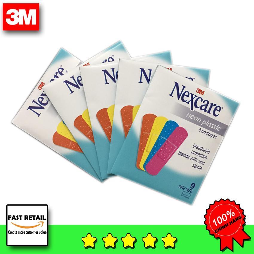 [SALE ] 5 Gói Băng Cá Nhân Nexcare Màu Neon nhập khẩu