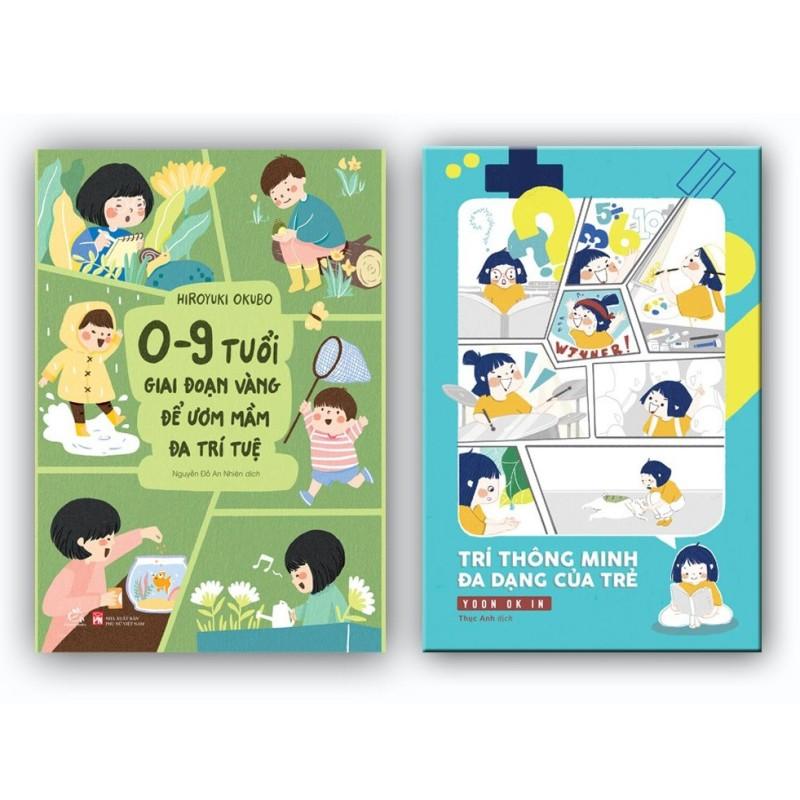 Sách Combo Giúp con phát triển trí thông minh đa dạng (Trí thông minh đa dạng +0-9 tuổi, giai đoạn vàng để ươm mầm đa trí tuệ