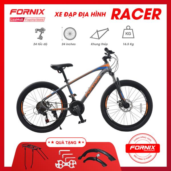 Mua Xe đạp địa hình Fornix Racer- Vòng bánh 24 (KÈM SÁCH HƯỚNG DẪN) - Bảo hành 12 tháng + Tặng (Baga - Dè trước sau - Bộ lắp ráp)