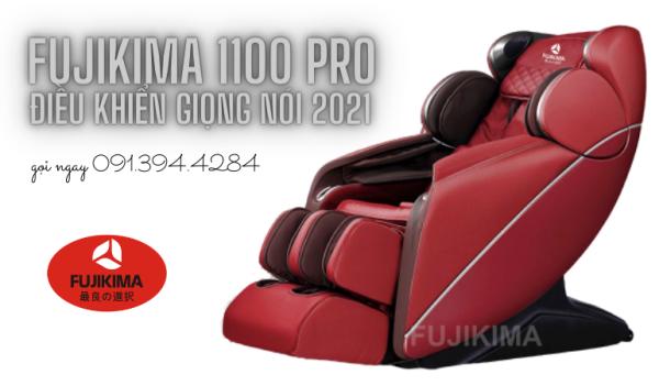 Ghế massage Fujikima FJ-1100 Pro điều khiển giọng nói tiếng Việt mẫu mới nhất 2021