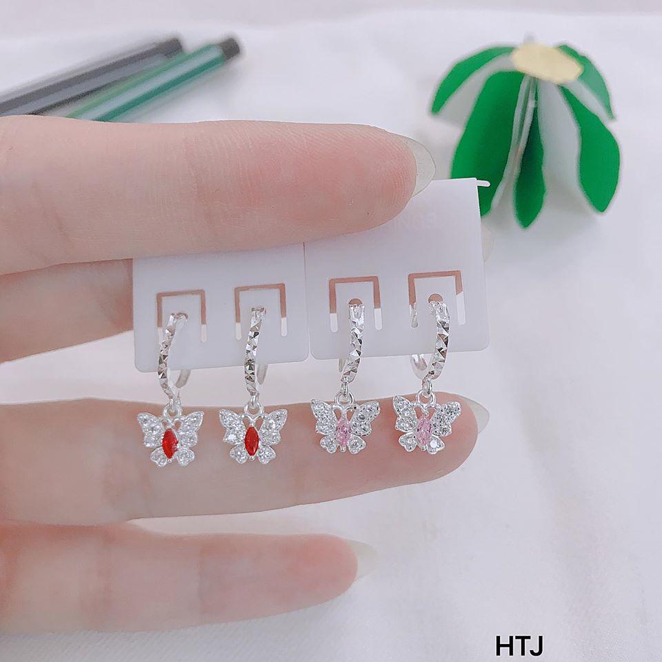 Giá bán Bông tai bạc trẻ em hình cánh bướm MS45