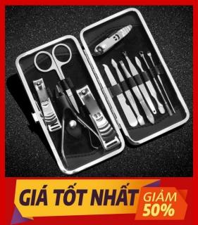 Bộ cắt móng 12 món-Bộ kìm cắt móng tay - Bộ kìm bấm móng tay 12 chi tiết - Bộ làm móng 12 món (Hàng Cao Cấp) thumbnail