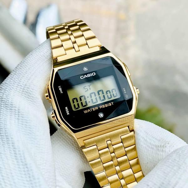 Đồng hồ nam nữ Casio A159WGED-1DF Bảo hành 1 năm- Pin trọn đời Hyma watch