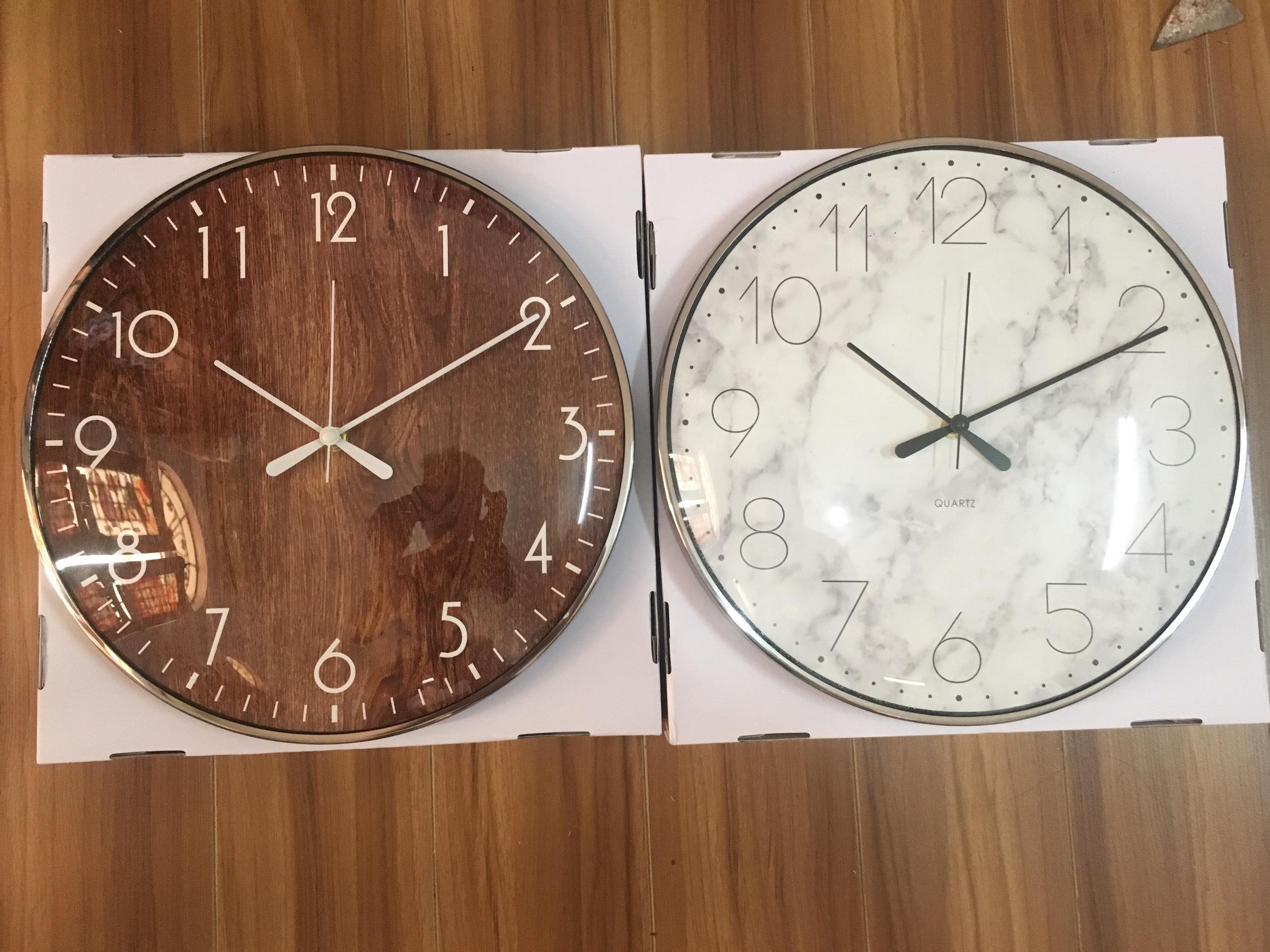 Nơi bán [XẢ KHO + ẢNH THẬT] Đồng hồ treo tường kim trôi cấp size 33
