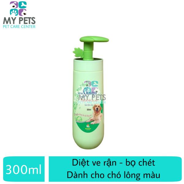 Sữa tắm cao cấp diệt ve rận, bọ chét, dương lông cho chó (chuyên dành cho chó lông màu) (VMD) - ViMe Shampoo 300ml