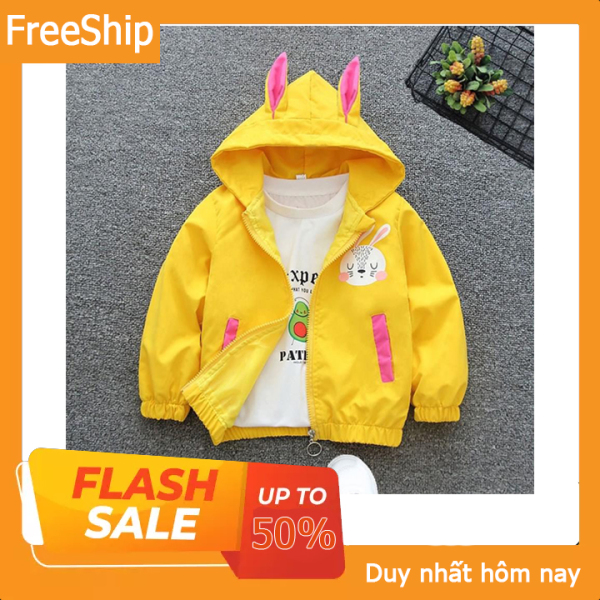 Giá bán ❤️ áo khoác cho bé ❤️ áo khoác thỏ con ngộ nghĩnh cho bé gái siêu xinh - Size từ  7-32 kg