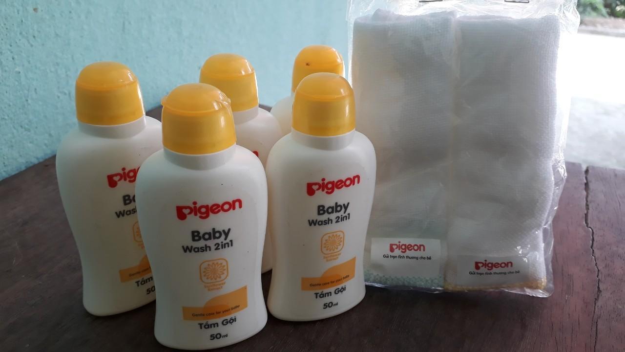 Combo 05 chai Sữa Tắm gội hướng hương 50ml cho trẻ