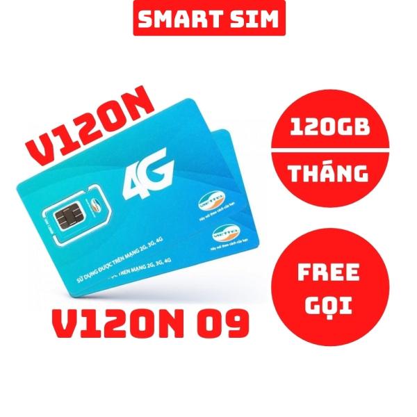 Sim 4G Viettel V120N và V120N 09 tặng 120GB data mỗi tháng, miễn gọi nội mạng và ngoại mạng - Smart Sim HC