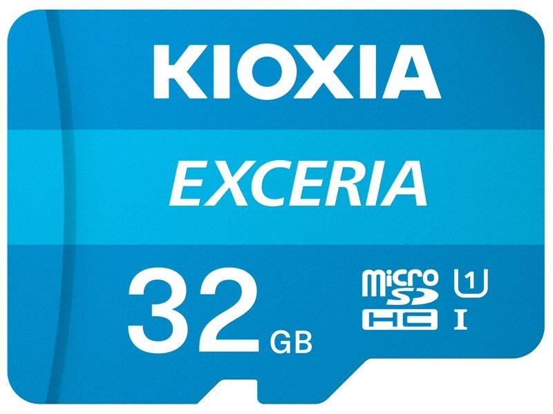 Thẻ nhớ MicroSDHC Kioxia Exceria 32GB UHS-I U1 100MB/s (Xanh) - Formerly Toshiba Memory