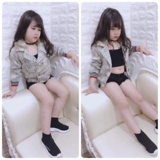 Siêu phẩm áo dạ cổ lông sành điệu cho bé gái từu 8kg đến 25kg thumbnail