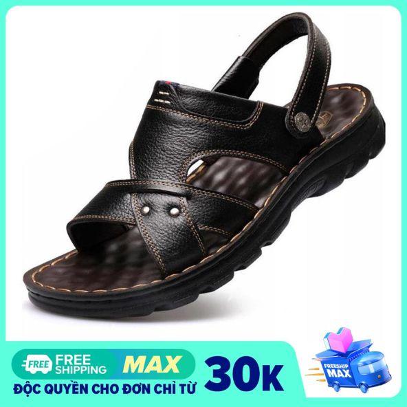 Sandal nam da bò quai ngang chất đẹp PETTINO - LLPN01 giá rẻ
