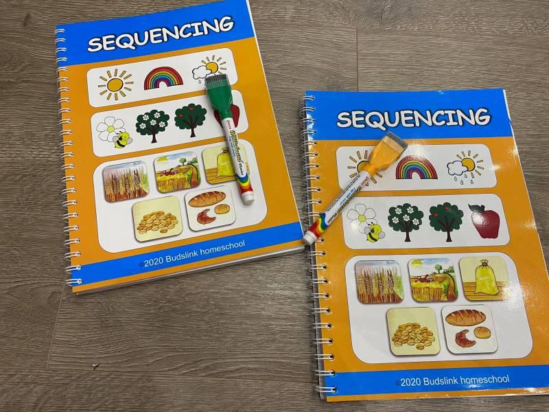 Sách SEQUENCE (Order Events- Sắp Xếp Bức Tranh Theo Logics)- Sách Bản Gốc, In Màu, Chất Liệu Tốt- Sách Hay Cho Bé