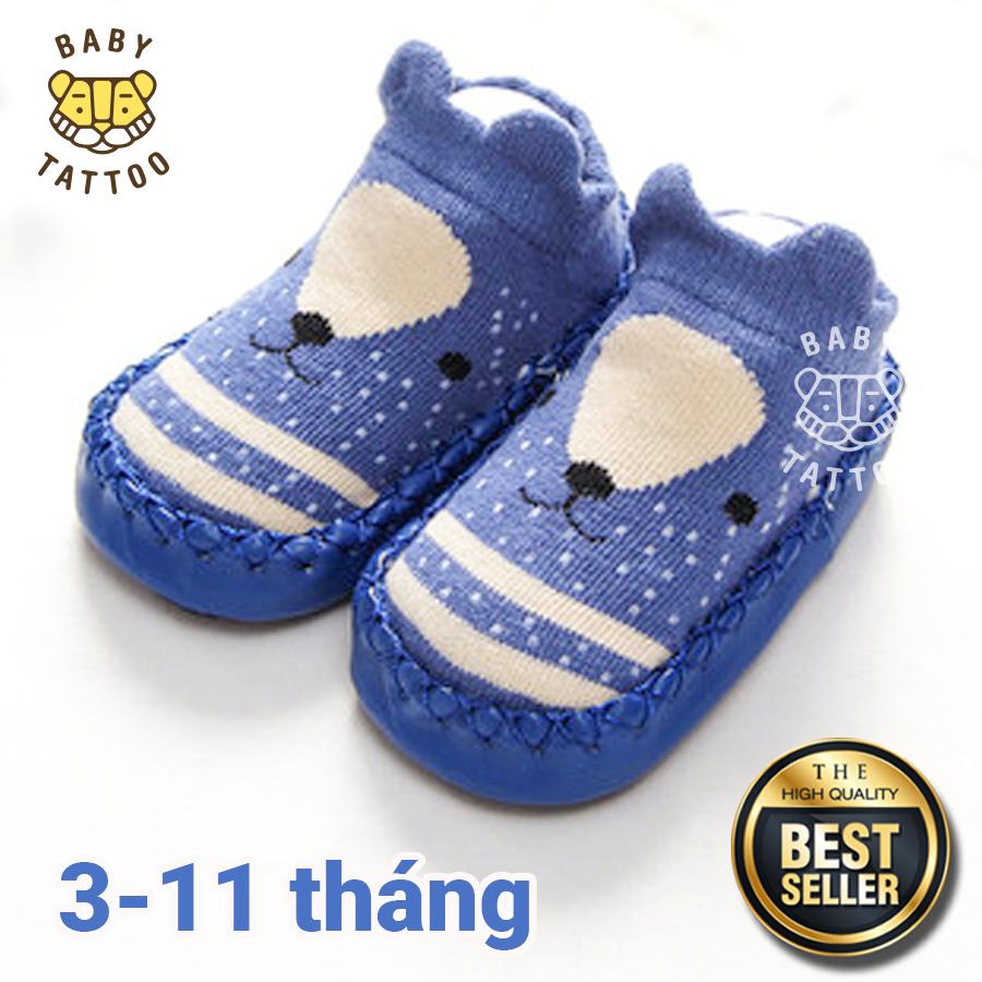 Giày tập đi cho bé hình thú đáng yêu, đế cao su chống trượt 9 tháng 1-2 tuổi