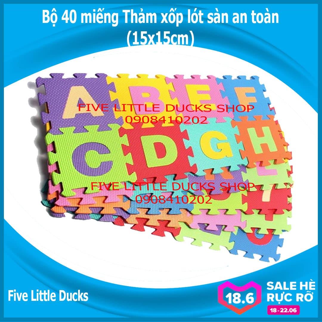 Voucher Khuyến Mại Bộ 40 Tấm Thảm Xốp Lót Sàn An Toàn Cho Bé - 15x15cm - Xuất Xứ Việt Nam