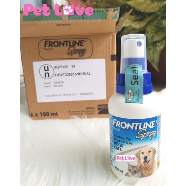 Thuốc xịt diệt ve rận, bọ chét chó mèo Frontline spray