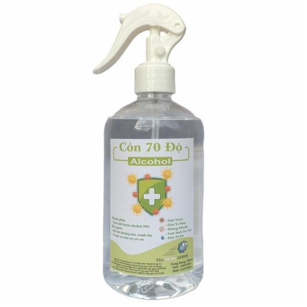 {500ml} Cồn y tế 70 độ chuẩn dùng sát khuẩn, rửa tay giá rẻ
