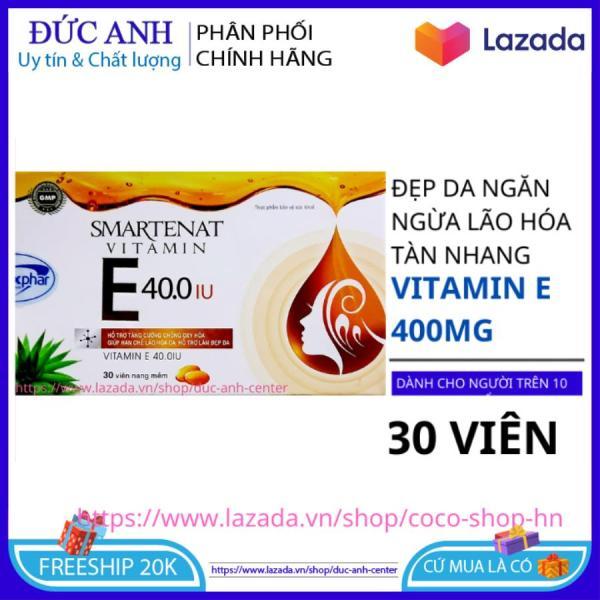 Vitamin E 400 IU viên uống trắng da chống lão hóa hộp 30 viên